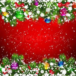 Decor Star Christmas Background With Snow Covered Branches Of