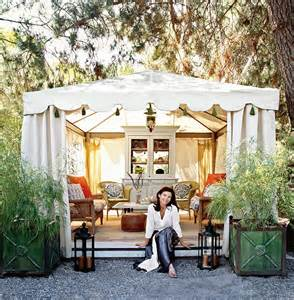 Shabby Chic Porch Decorating Ideas Italian Canvas Tent Veranda Decorated In Different Styles