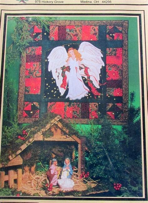 christmas angel quilt wallhanging pattern machine applique  ebay