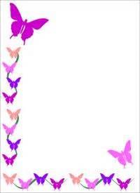 Big printable border paper or smaller clip art frame butterfly design