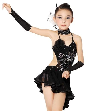 latin teen model angelita latin competition dance wear sale black sexy tango dress