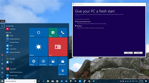 install windows 10 latest build windows 10 build 14367 rolls out with new clean install