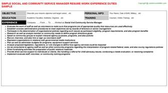 Community Service Manager Cover Letter by Resume Community Service