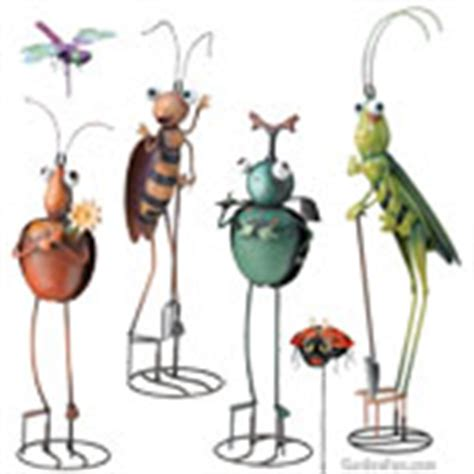 Metal Bugs Garden Decor with Garden Stakes Shop Decorative Metal Yard Stakes Gardenfun