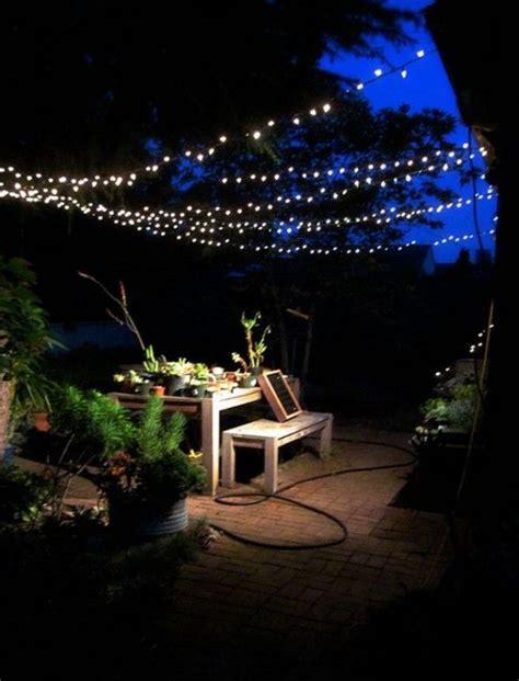 backyard lights string 1000 ideas about string lights outdoor on pinterest