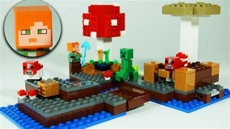 how to make a lego minecraft boat lego minecraft the mushroom island lego review speed