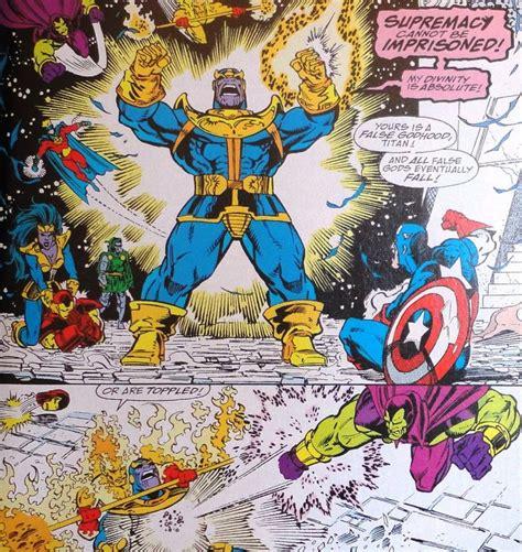 the infinity gauntlet vs thanos the infinity gauntlet comic book