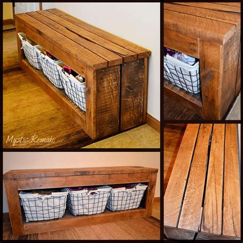 pallet shoe storage shoe storage bench made from reclaimed pallet wood mystic