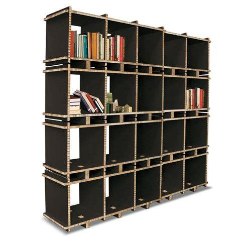 librerie in cartone libreria in cartone multi box 5 mod nera a 4 ripiani