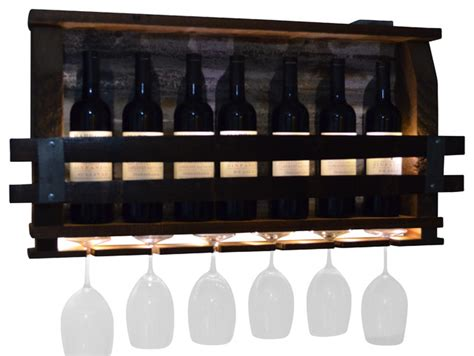 decorative wine racks for home lighted wine rack rustic home decor by all about barrels