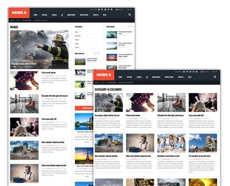 grid layout joomla news ii responsive news magazine joomla template by
