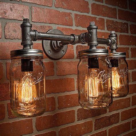 Mason Jar Light Fixture Diy Les 25 Meilleures Id 233 Es Concernant Lustre Industriel Sur