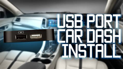USB Port installed in car dash   YouTube