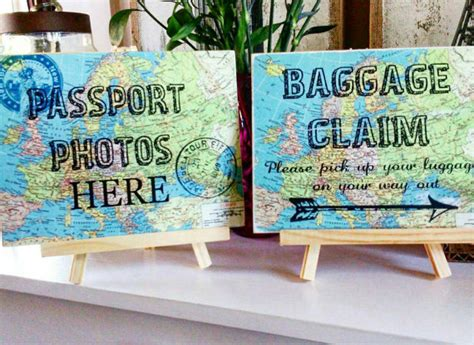 travel themed home decor items similar to travel theme wedding wedding decor