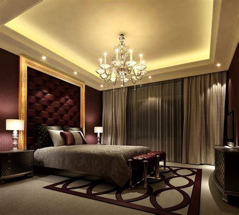 elegant bedroom idea comfortable mood  modern home