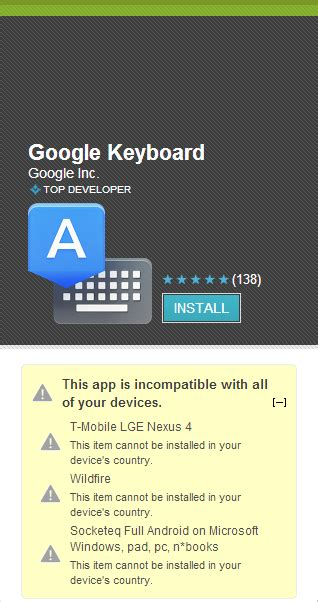 Play Store Without Country Restriction New App Adds Stock Android Keyboard To
