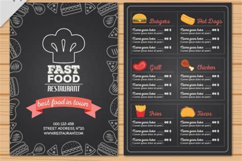 fast food menu design templates 30 free menu templates free pdf word design templates