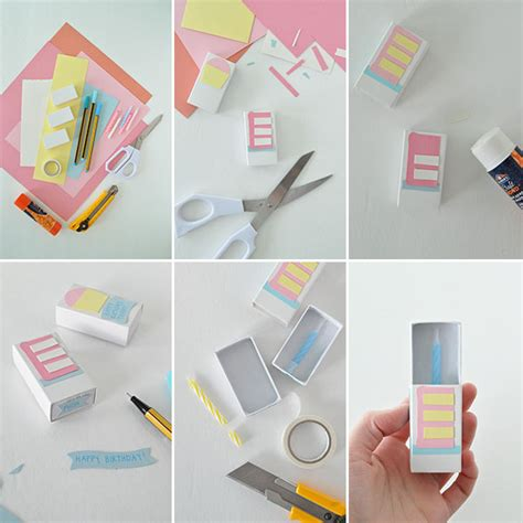 How To Make Handmade Gifts For Birthday - matchbox birthday card