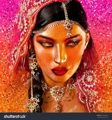 beauty india digital abstract digital art indian asian womans stock