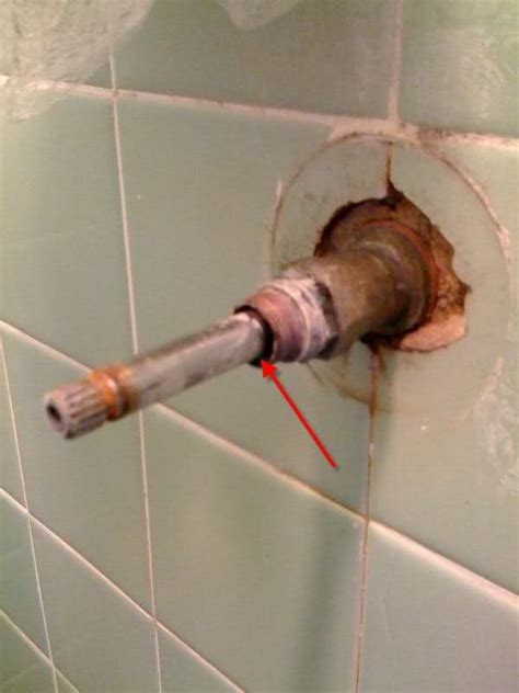 shower compression faucet leak terry