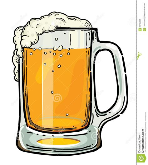 beer cartoon cartoon image of beer in glass stock vector illustration