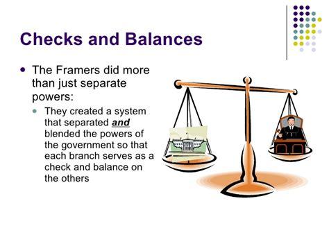 exle of checks and balances separation of powers and checks and balances