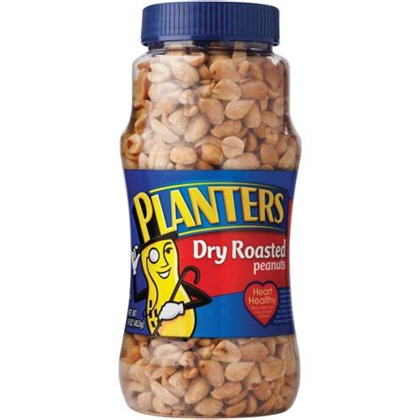 planters dry roasted peanuts 16 oz walmart com