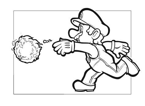 mario fireball coloring page super mario bros e le palle di fuoco disegno da colorare