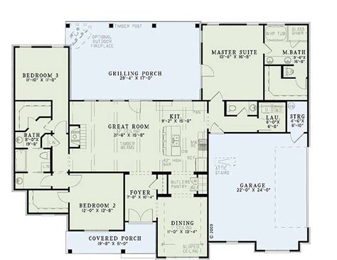 Great Home Plans | great room floor plan single story distinctive house