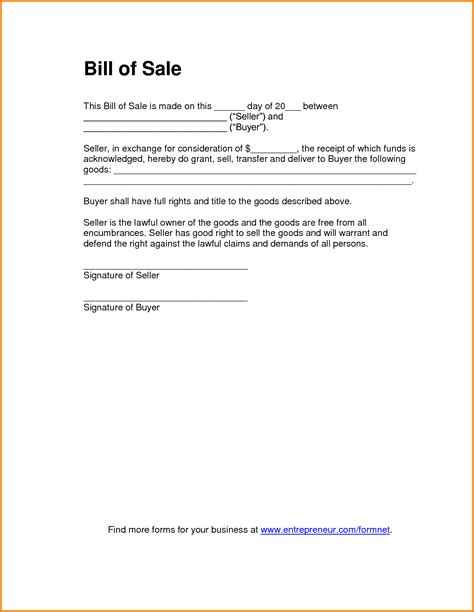 bill of sale template free doc 600791 trailer bill of sale bill of sale 72