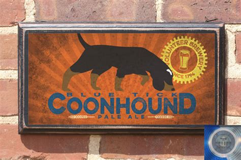 tennessee volunteers coonhound smokey craft wall sign