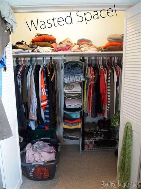 Ideas For Storage Clothes Without A Dresser by Diy Custom Closet Shelving Tutorial Reality Daydream