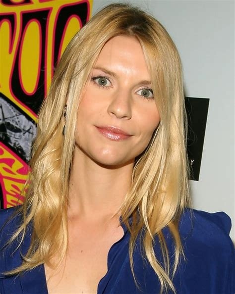 Claire Danes Hairstyles: Center parted Medium Haircut