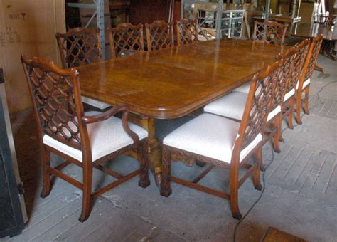 dining table and 8 chairs uk 14 ft regency dining table 8 chippendale chairs