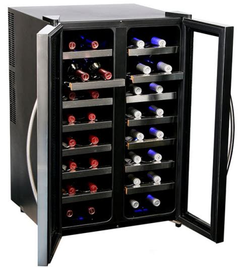 dual zone wine cooler temperature settings whynter wc 321dd 32 bottle dual temperature zone wine