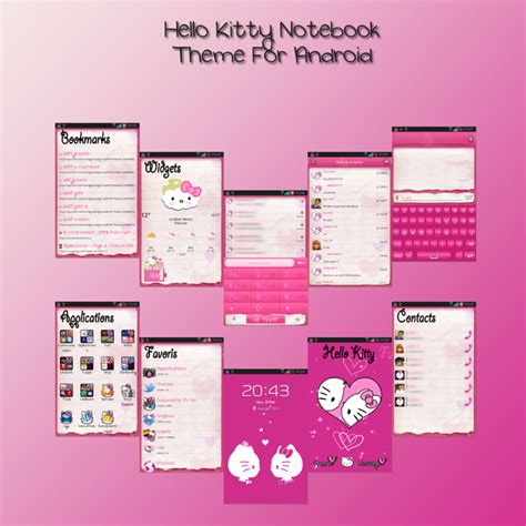 hello kitty themes in facebook hello kitty theme for android by ladypinkilicious on