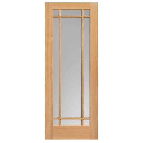 solid wood interior doors home depot masonite 40 in x 84 in prairie unfinished fir veneer 9 lite solid wood interior barn door slab