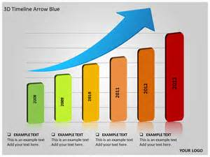 animated timeline powerpoint template 3d timeline arrow blue powerpoint template background of