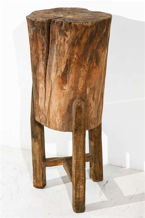 tree trunk table legs pedestal side table wood bedroom nightstand nightstand
