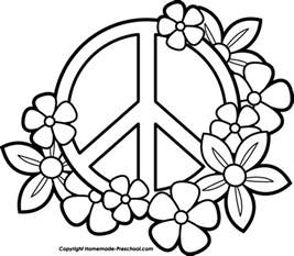 peace sign coloring pages free peace sign clipart