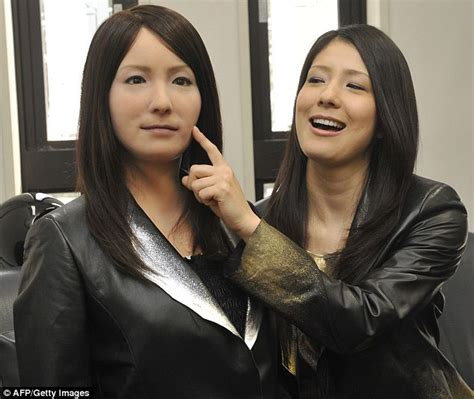 japanese android robot geminoid f performs alongside human in japanese play daily mail