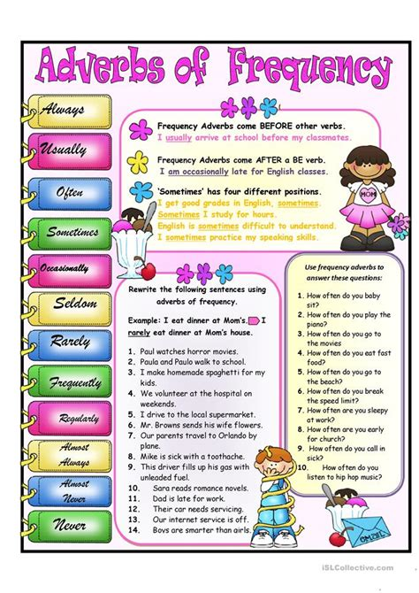 worksheets on adverbs of frequency frequency adverbs worksheet free esl printable worksheets made by teachers