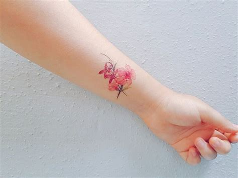 peach rose tattoo 77 deliciously delicate wrist tattoos tattoomagz
