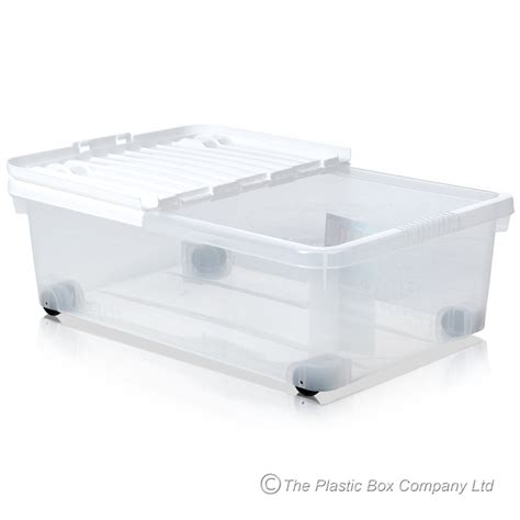 The Bed Storage On Wheels by Buy 32lt Bed Plastic Storage Box On Wheels