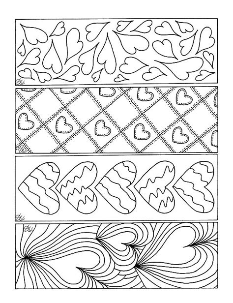 Love Themed Coloring Page | love theme bookmarks coloring pages love theme bookmarks