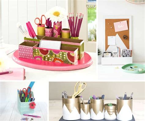 How To Make A Diy Desk Organizer Mod Podge Rocks Desk Organizer Diy