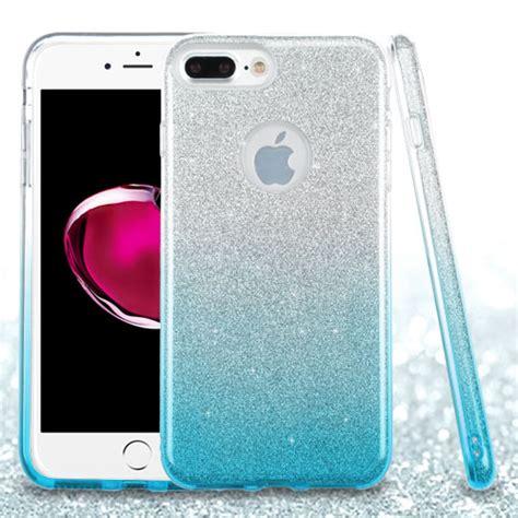 for apple iphone 8 plus glitter hybrid tpu gradient cover ebay