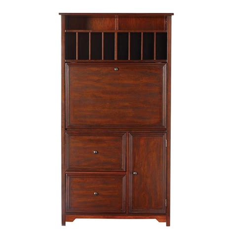 home decorators collection oxford chestnut secretary desk