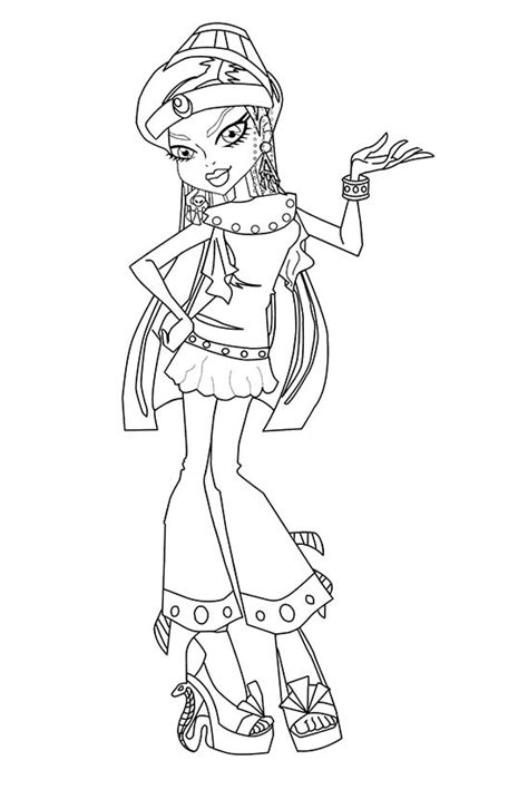 monster high coloring pages nefera de nile monster high nefera de nile wear nice costumes coloring