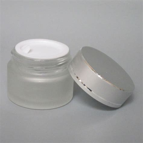 glass cream jar wholesale 15g clear frosted glass cosmetic jar 15g empty glass jar for eye shaoxing